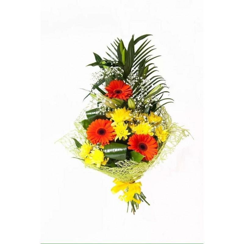 Профсоюзная, вертикальный букет из хризантем